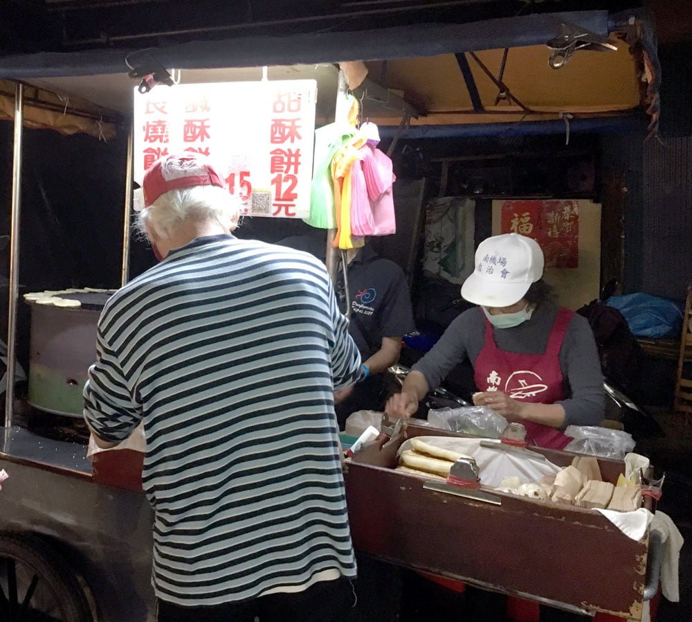 Taipei Nanjichang Night Market Shaobing Cart