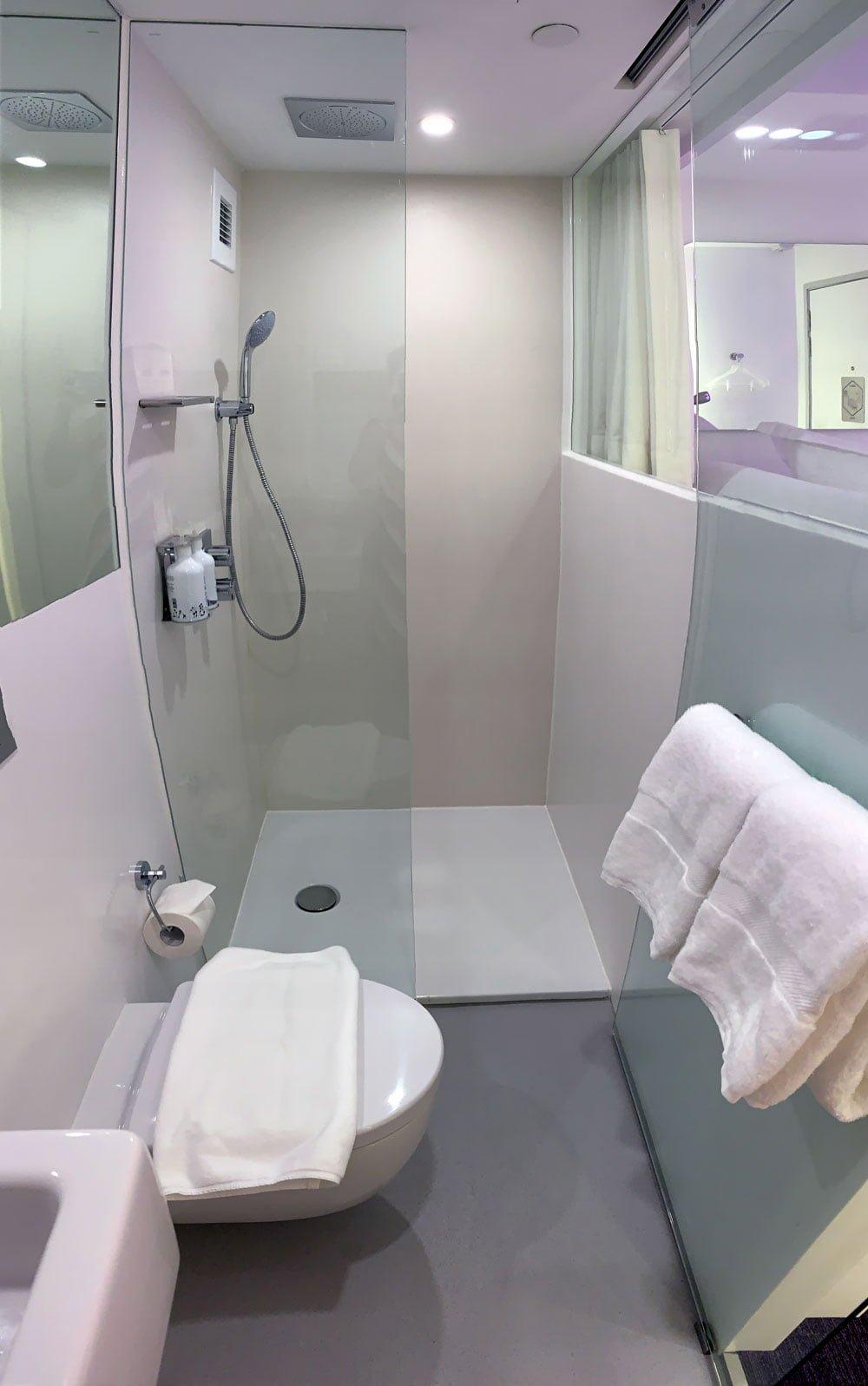 YotelAir Jewel Queen Room Toilet Shower