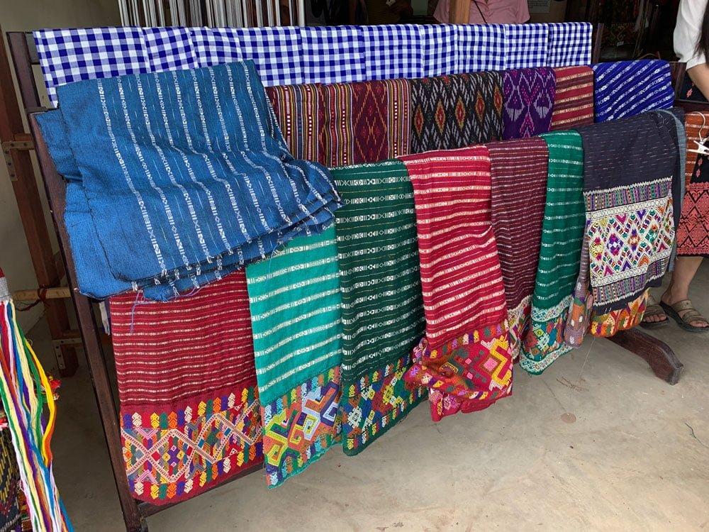 Laos Ban Phontan Traditional Woven