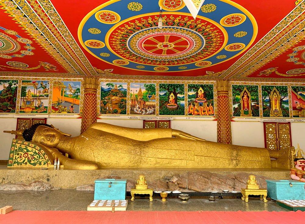Laos Bolikhamsay Phabath Reclining Buddha