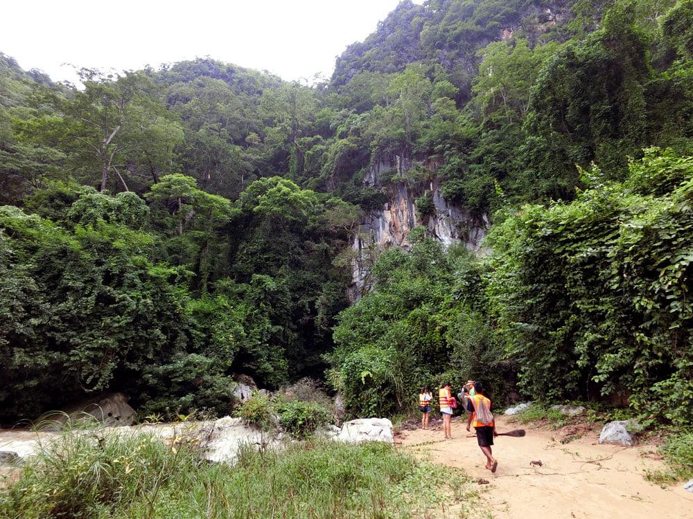 Laos Kong Lor Cave Beach