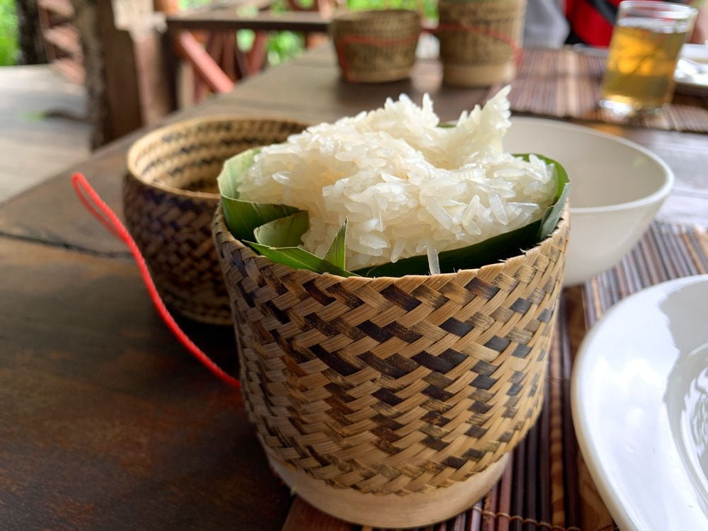 Laos Kong Lor SpringRiver Lunch Sticky Rice