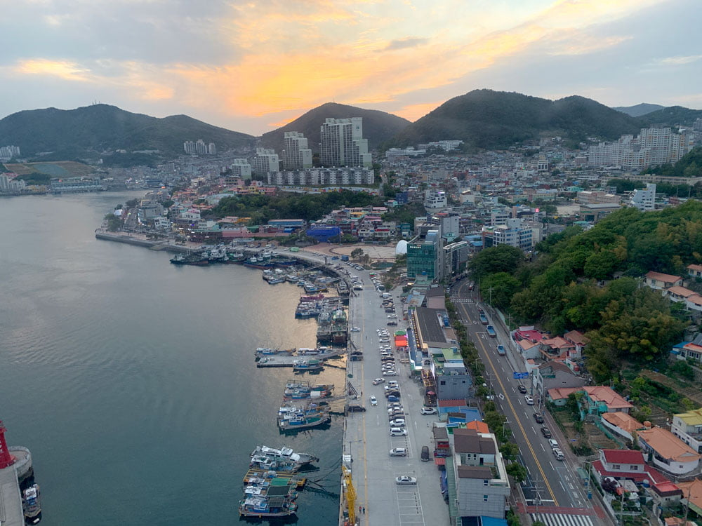 Yeosu Cable Car Ride Sunset Road