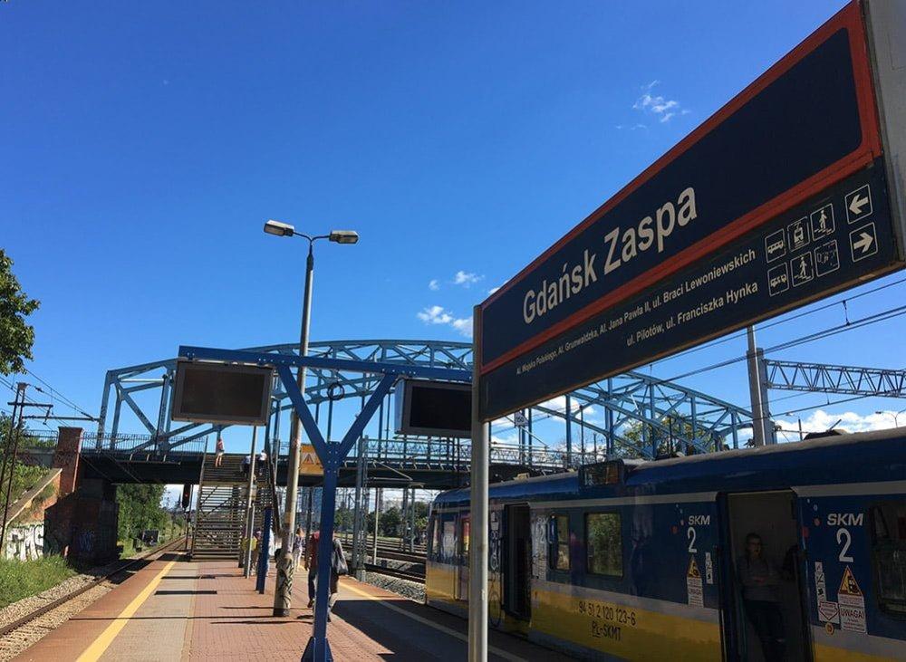 Poland Zaspa Train Station
