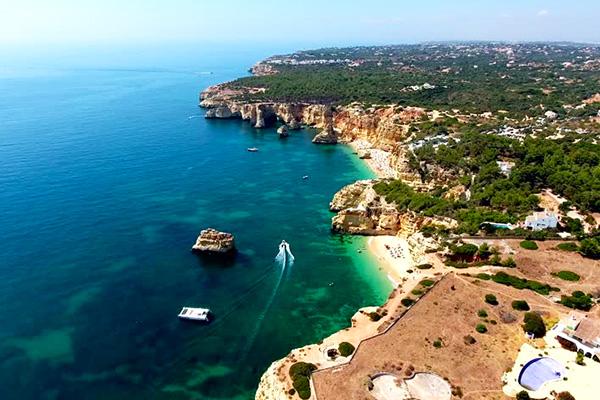 Albufeira Cliffs sailing yacht explore Algarve Ocean Portugal