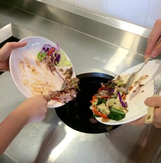 Dining hall food wastage