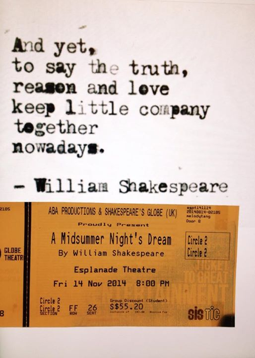 "Ticket for ""A Midsummer Night's Dream"""