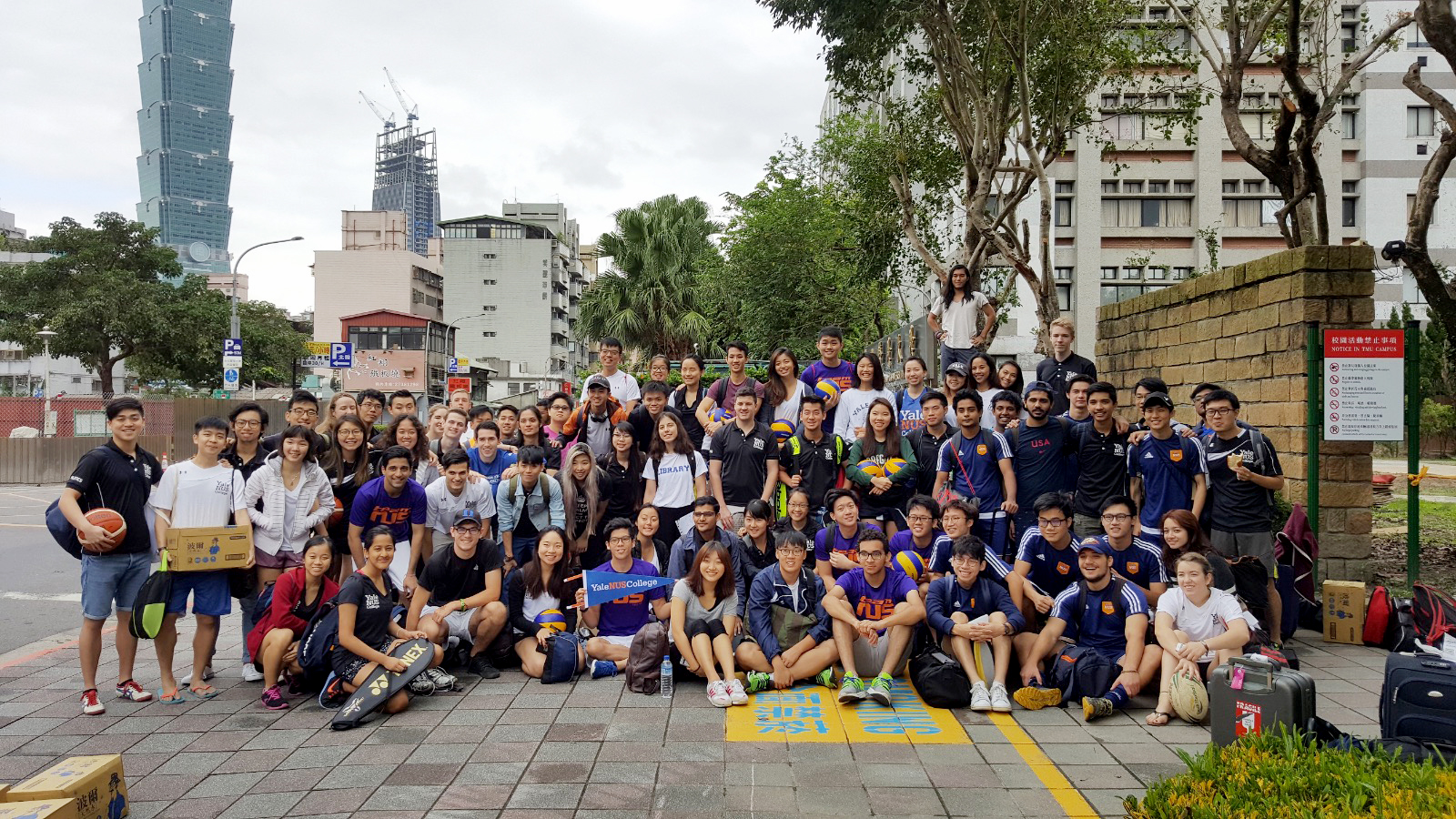 Yale-NUS Athletics Goes to Taiwan
