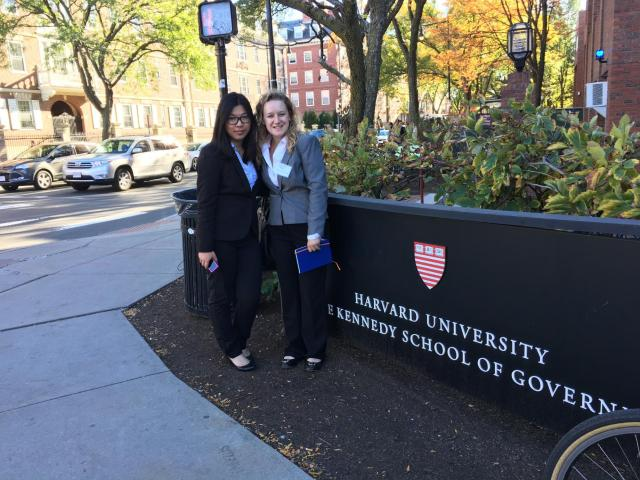 Chandler and Betty visited the Harvard Kennedy School of Government as part of the Convention.