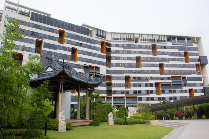 SUTD's modern student housing.