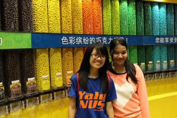 [From left to right] Joyan Tan '17 and Spandana Bhattacharya '17