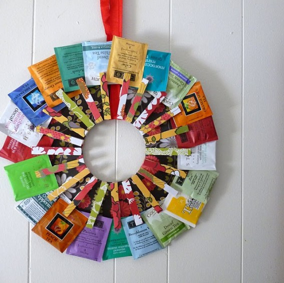 DollarStoreCrafts tea wreath
