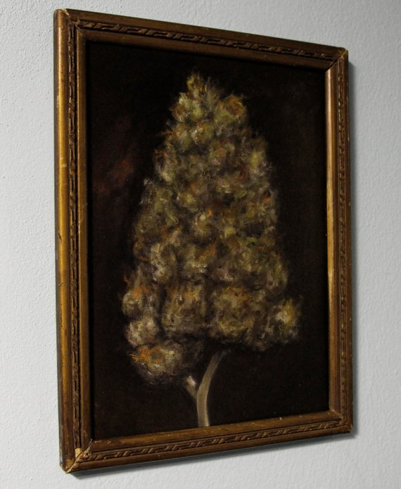 painted weed portrait