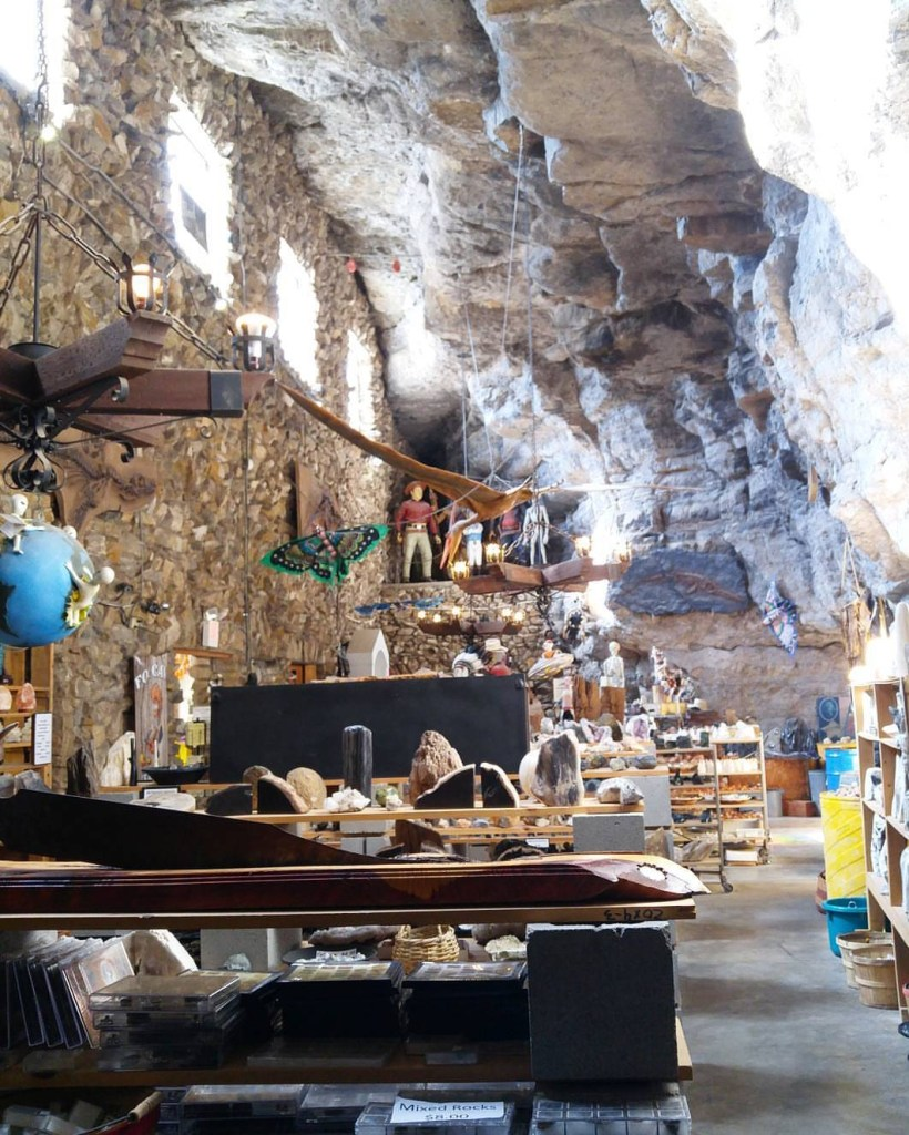 inside fox cave gift shop