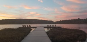 sunset at the lodge at woodloch