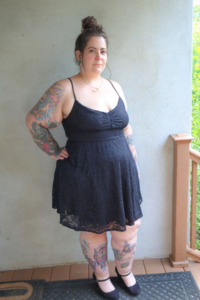 forever 21 plus size lace cami dress