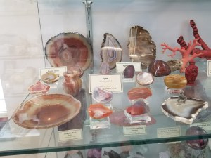 agates at New Mexico Bureau of Geology Mineral Museum