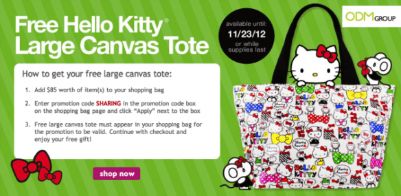 Hello Kitty Canvas Tote - GWP by Sanrio in USA