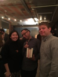 Vivian Lee, Viet Dinh and me at the Little A party.