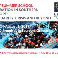 2017 Summer School - MIGRATION IN SOUTHERN EUROPE: SOLIDARITY, CRISIS AND BEYOND, July 24-August 1, 2017, EPLO Premises in Sounion, Greece