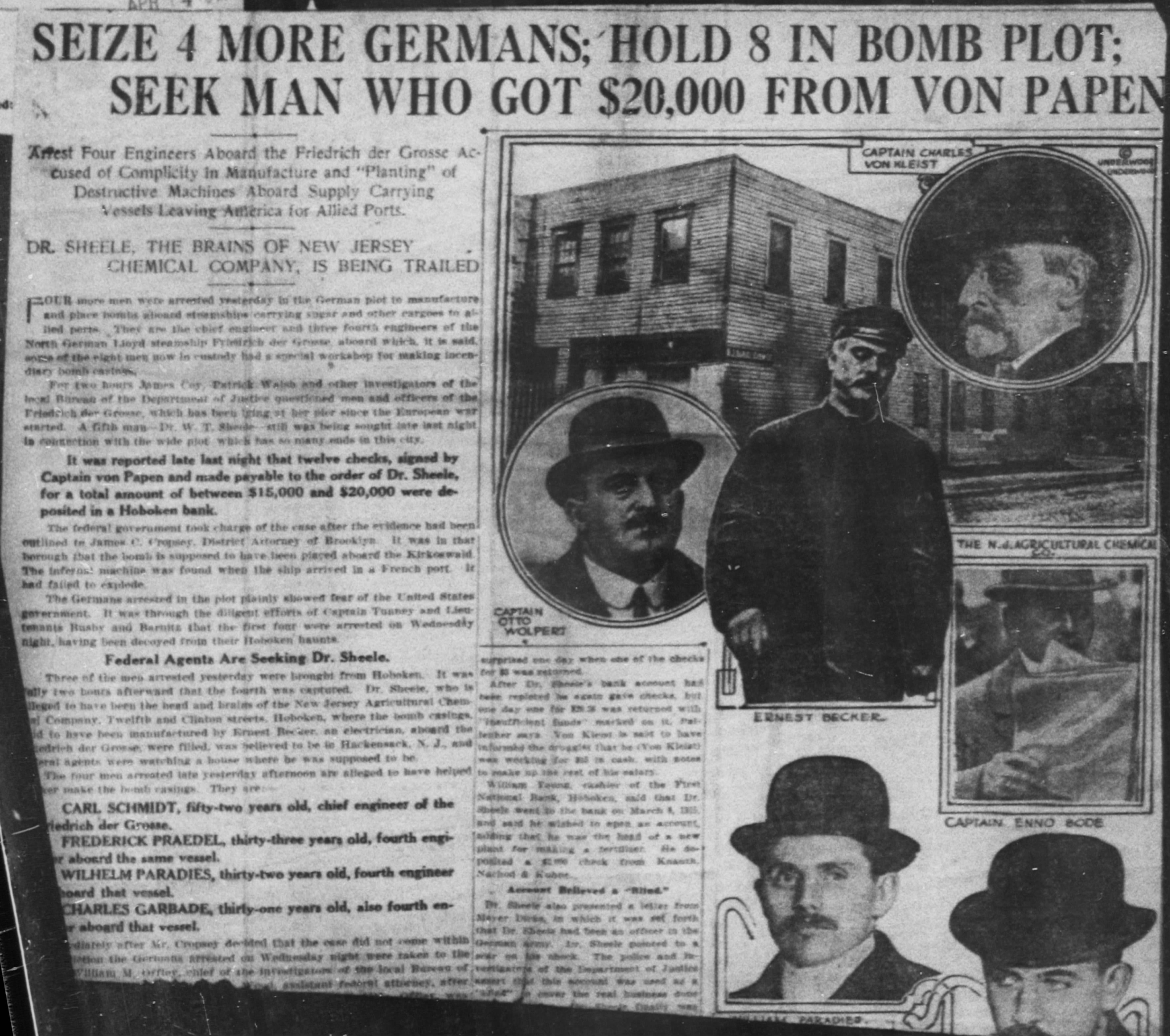 Image result for photo of Walter scheele German spy