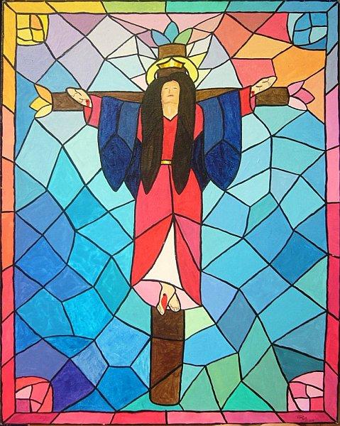 Jesus in drag