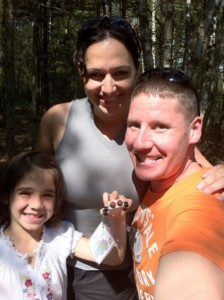Steve Mireille and Clara Geo Caching