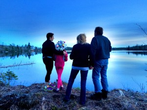 The Barnes Family At The Off Grid Cabin