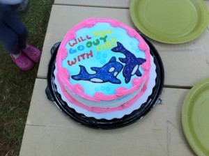 Will You Go Out With Me Cake