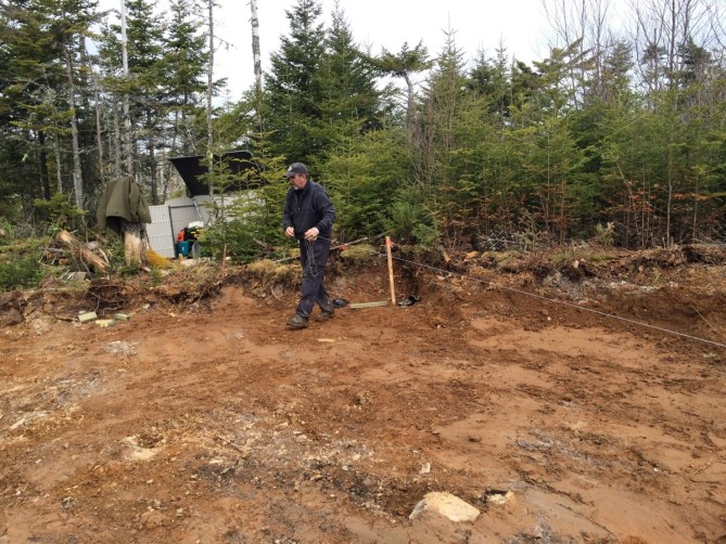 Laying out the The Off Grid Cabin Foundation