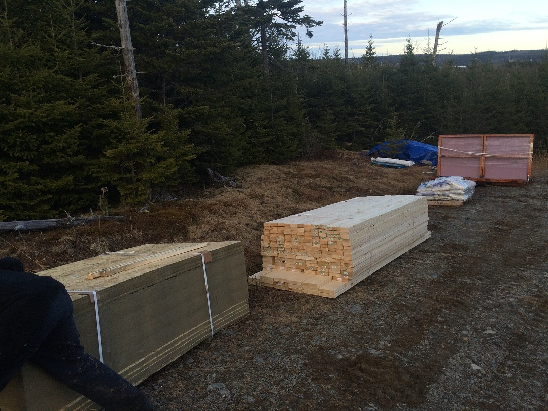 Delivering 20 000 lbs of off grid cabin building materials for Building off the grid ana white