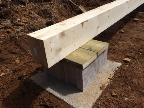 Beam and footing