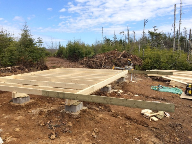 Floor joist for off grid cabin done