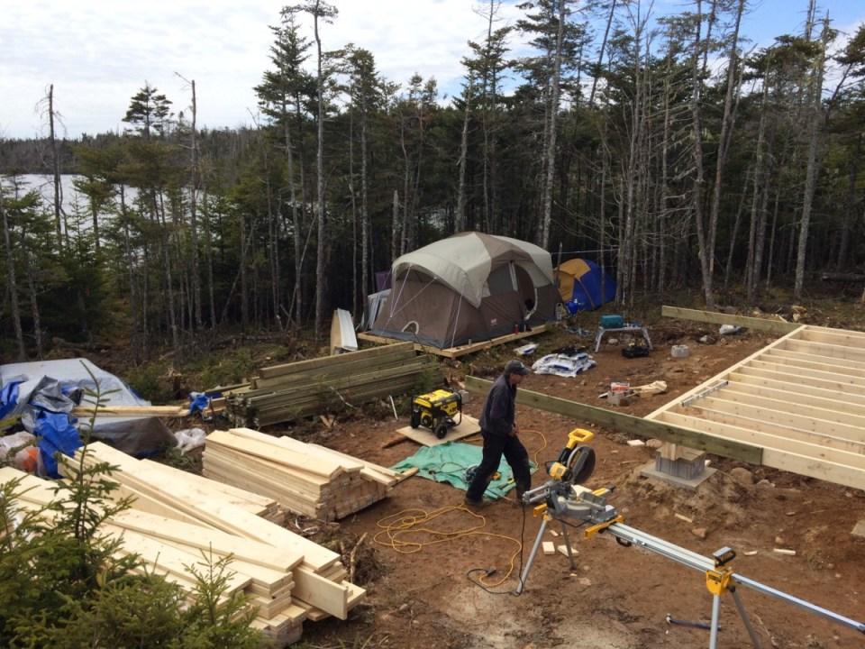 Joist off grid cabin complete