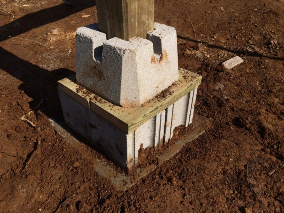 Off Grid Cabin Footer Block