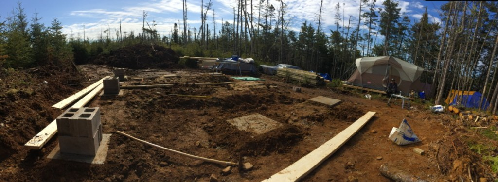 Off Grid Cabin Footers