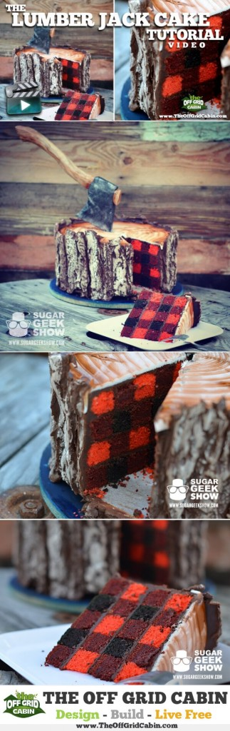 How To Make A LumberJack Cake Tutorial