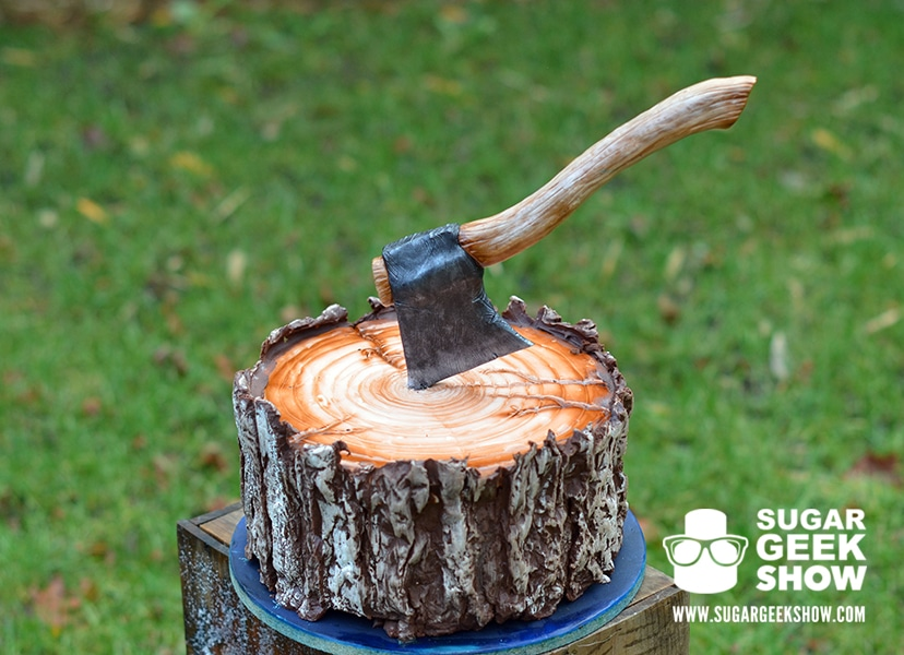 Lumber Jack Cake with Axe
