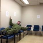 Captain Steve Barnes waiting room 1