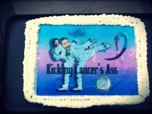 Kicking Cancers Ass Cake