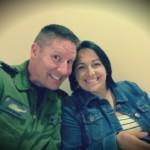 Steve and Mireille Barnes Hospotal waiting room