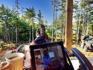 Working at the Cabin