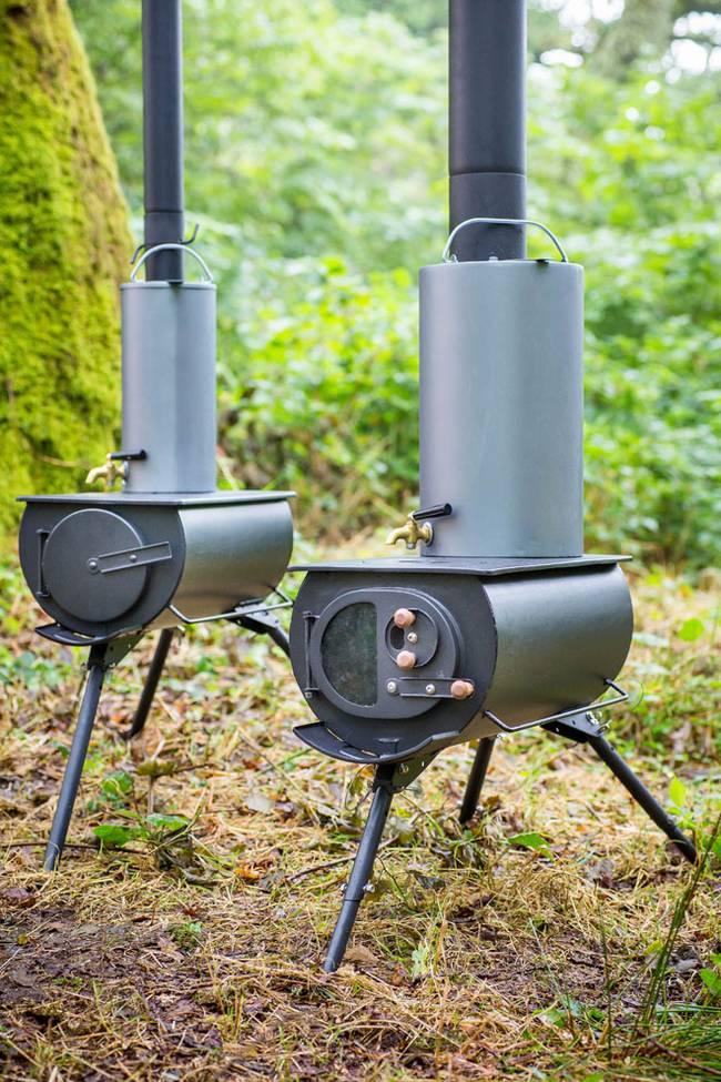 Portable Amp Foldable Woodstove That Heats Up Tents Yurts