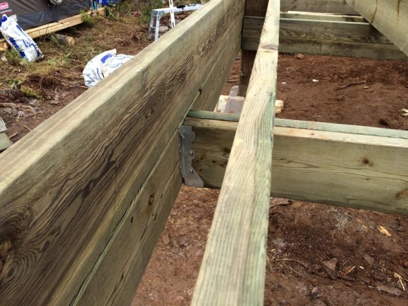 How To Build The Perfect Off Grid Cabin Front Deck Step By