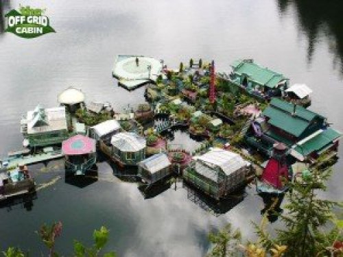 Off Grid Floating Homemade Island