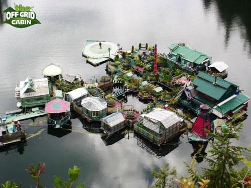 Off Grid Floating Homemade Island