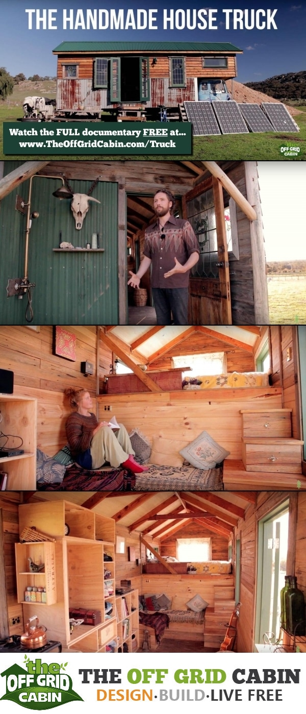 Off Grid Handmade House Truck Made With 85% Recycled Materials Pinterst Image