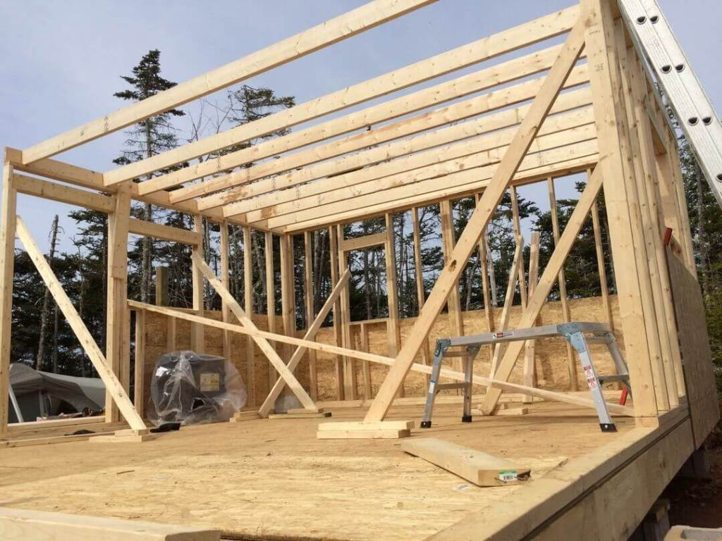Framing The Cabin Starting Loft Floor Joists 2