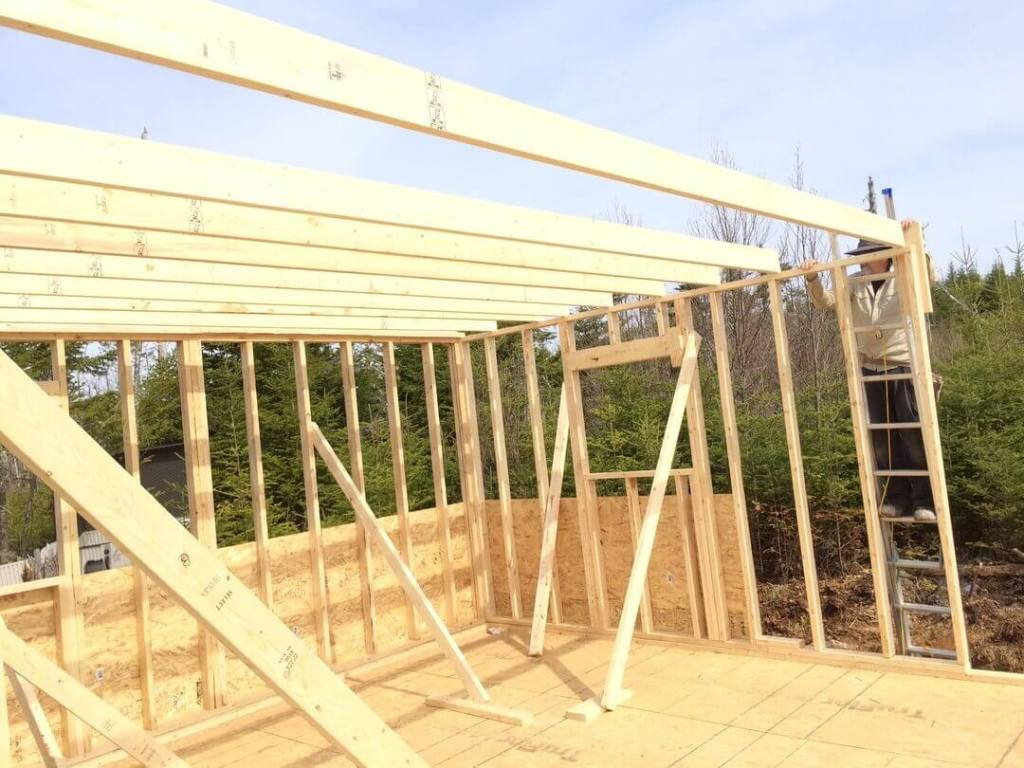 Framing The Cabin Starting Loft Floor Joists
