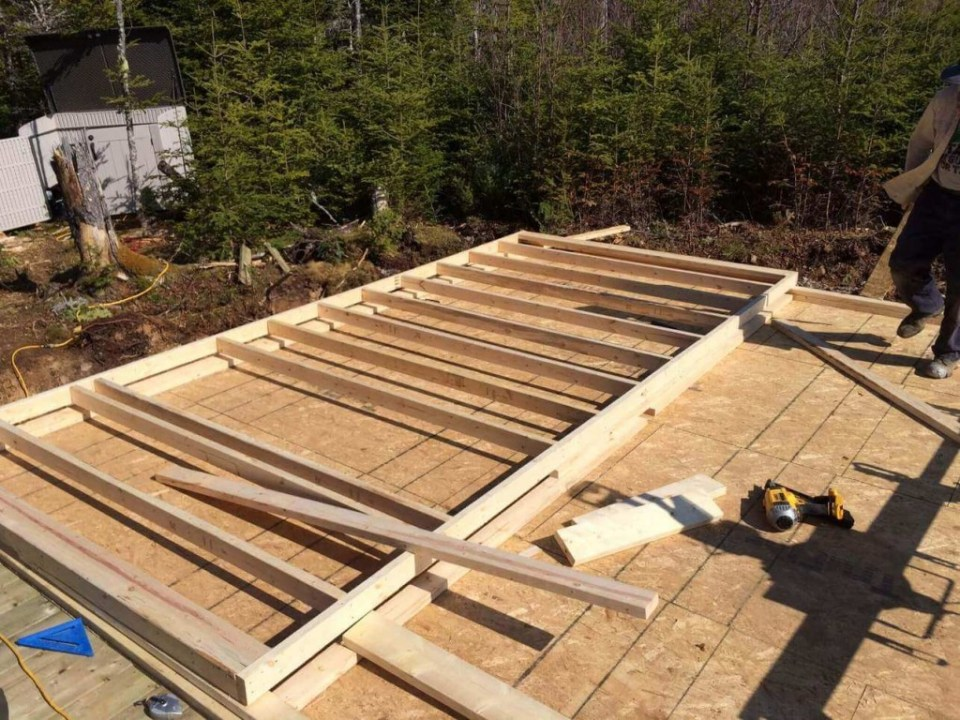 Framing-the-Off-grid-Cabin-First-Wall